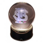Paragon Innovations FloridaStateLEM Florida State logo etched in a lit  musical and turning crystal ball
