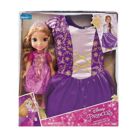 Disney Princess Rapunzel Toddler Doll and Dress - Disney Princess Dress Size 14