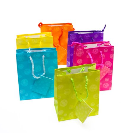 Small Matte Swirl Gift Bags - Small Gift Bags In Bulk