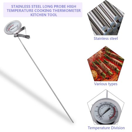 HC-TOP Stainless Steel Long Probe High Temperature Cooking Thermometer Kitchen Tool - image 2 of 8
