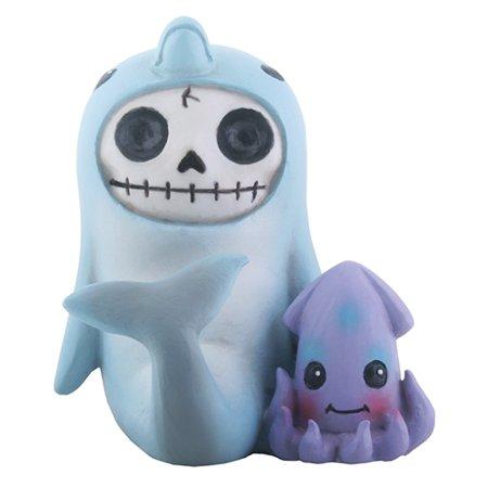 Furrybones Sonar Skeleton in Dolphin Costume with Squid Halloween Figurine](Squid Ink Pasta Halloween)