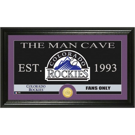 The Highland Mint MLB Man Cave Bronze Coin Panoramic Photo Mint, Colorado Rockies by