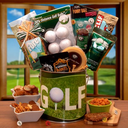 Gift Basket 852032 Fore! Golfers Gift Pail