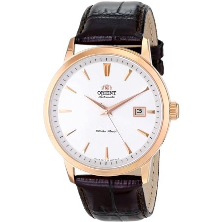 Analog White Dial Watch (Men's Symphony 41mm Black Leather Band Steel Case Automatic White Dial Analog Watch FER27003W0 )
