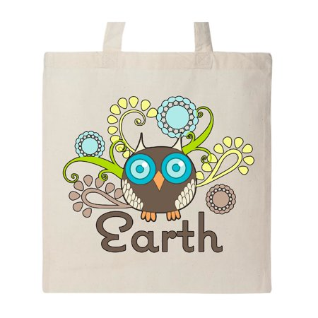Earth Day Owl Tote Bag