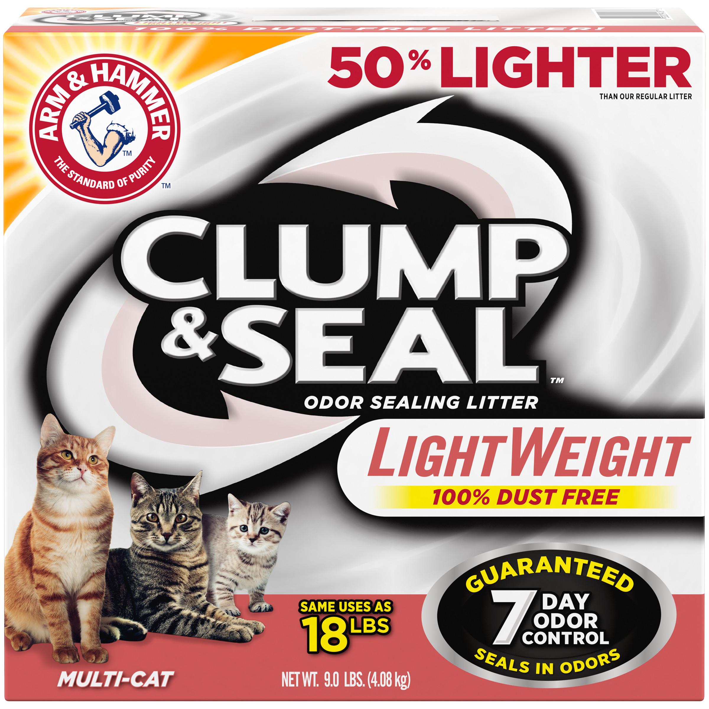 Arm & Hammer Clump & Seal Lightweight Litter, Multi-Cat 9 lb