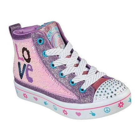 Girls' Skechers Twinkle Toes Twi Lites 2.0 Lilac Love Sneaker