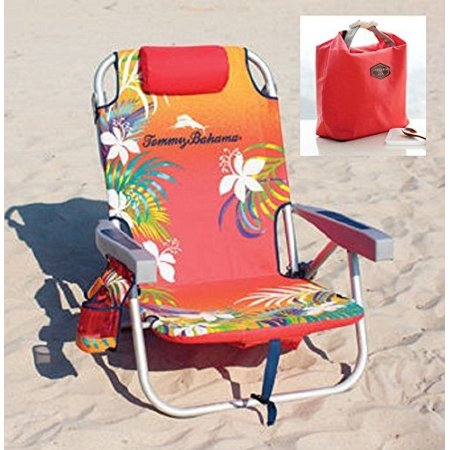 Tommy Bahama 2016 Backpack Cooler Beach Chair Orange