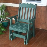 A & L Furniture Royal English Poly Recycled Plastic 2 ft. Glider Chair