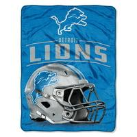 "NFL Detroit Lions Franchise Micro Raschel 46"" x 60"" Throw, 1 Each"