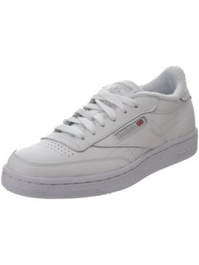 a36c945d808a Reebok V50438  Club C Big Kids White Sheer Grey Sneaker