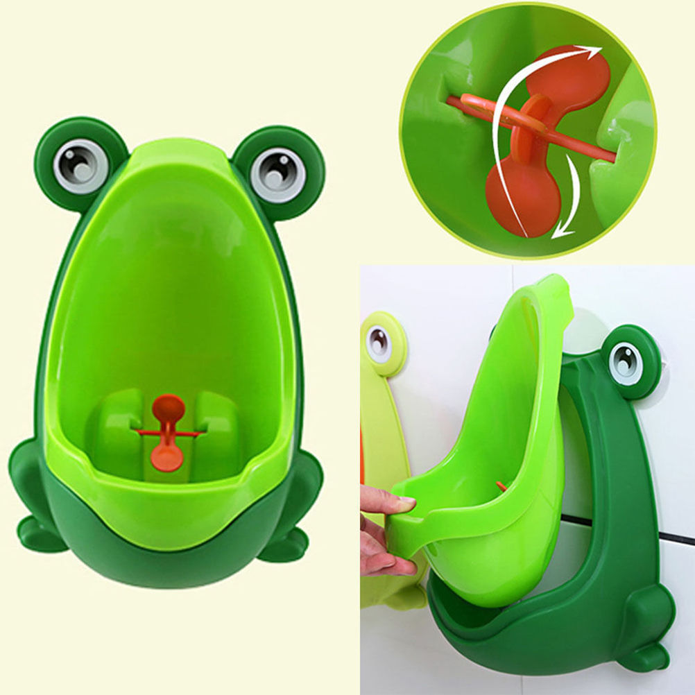 Cute Frog Potty Training Urinal Toilet Urine Train Froggy Potty for Children Kids Toddler Baby Boys,... by