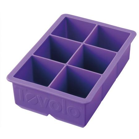 Tovolo King Cube Jumbo Silicone Ice Cube Tray, Vivid Violet (Tovolo Ice Cube Tray)