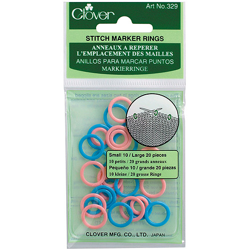 "Clover Stitch Marker Rings, .5"", 30-Pack"