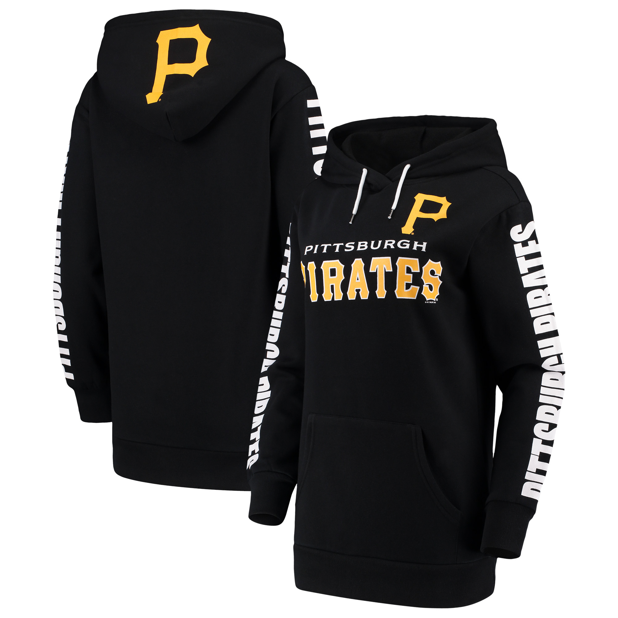 Pittsburgh Pirates G-III 4Her by Carl Banks Women's Extra Innings Pullover Hoodie - Black