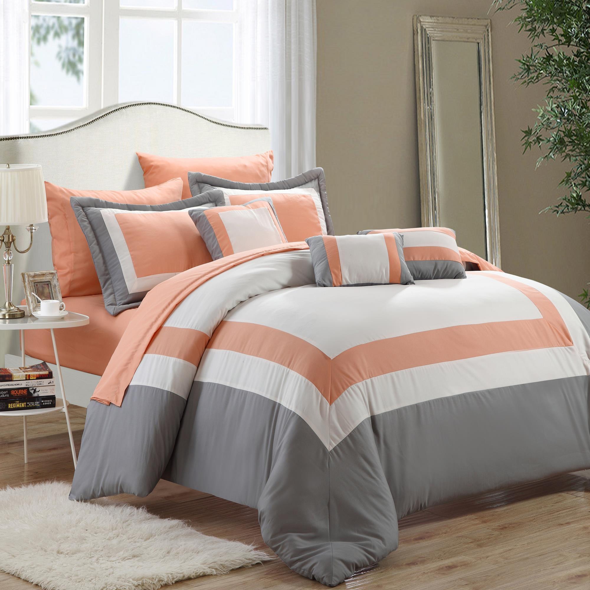 Peach And White Bedding Bedding Designs