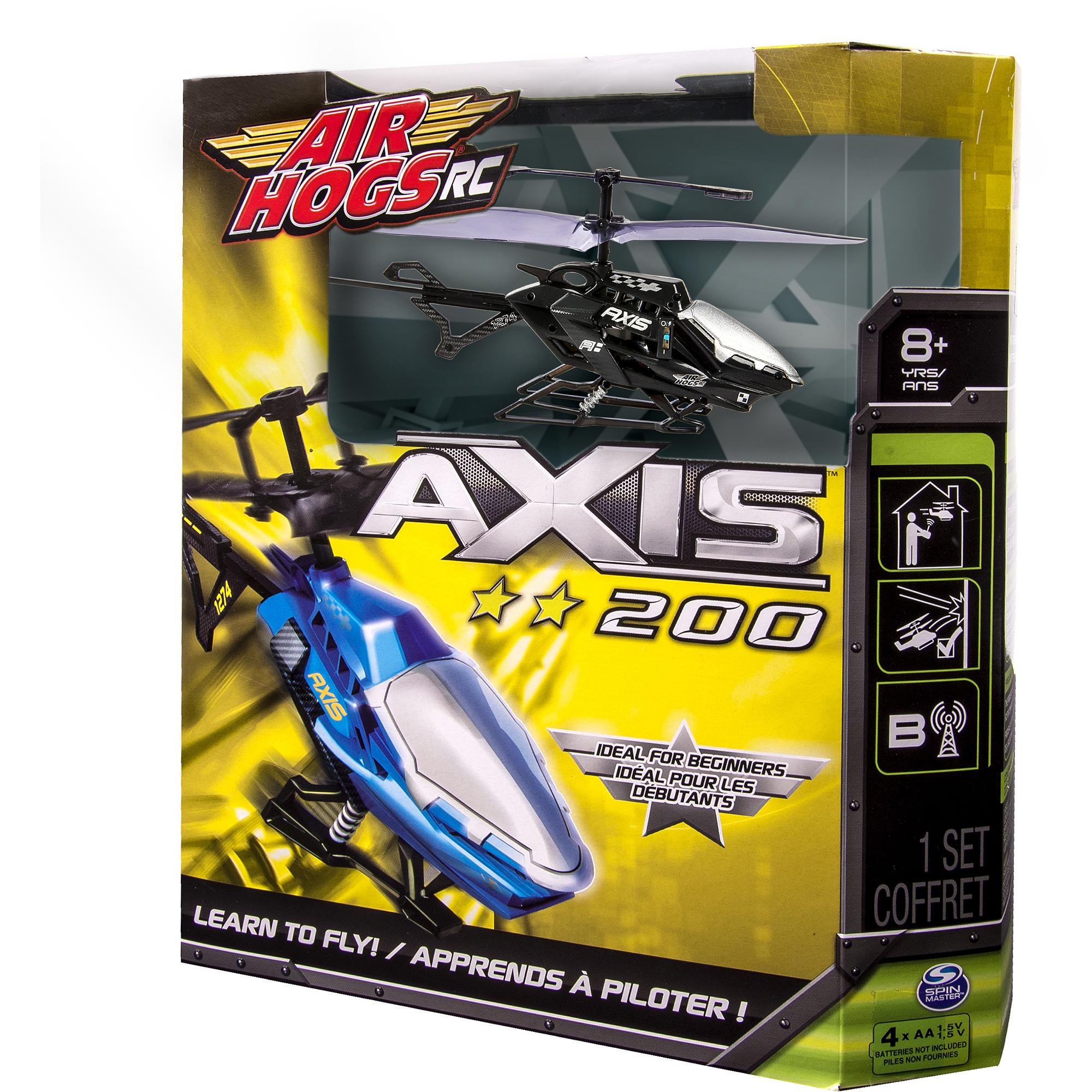 Air Hogs RC Axis 200 R/C Helicopter- in colors Black, Blue, Gray, and Red -  Walmart.com
