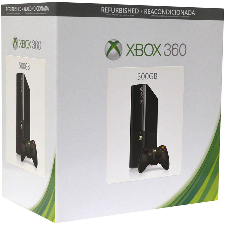 Refurbished Xbox 360 Elite 500GB Gaming Console, Black, 885370889277