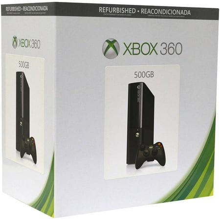 Refurbished Xbox 360 Elite 500Gb Gaming Console  Black  885370889277