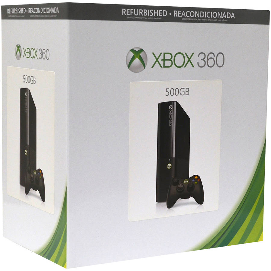 Refurbished Xbox 360 Elite 500GB Gaming Console, Black, 885370889277
