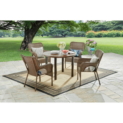 Better Homes and Gardens Camrose Farmhouse Mix and Match Round Table with Your Choice Chairs