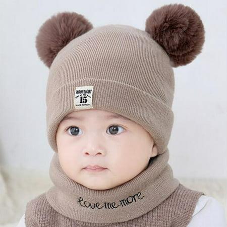 30203c0fe51b0 Baby Hats Winter clearance - New Autumn Winter Christmas Hat Baby Boys  Girls Hat Warm Windproof Hat + Scarf Neckerchief - Walmart.com