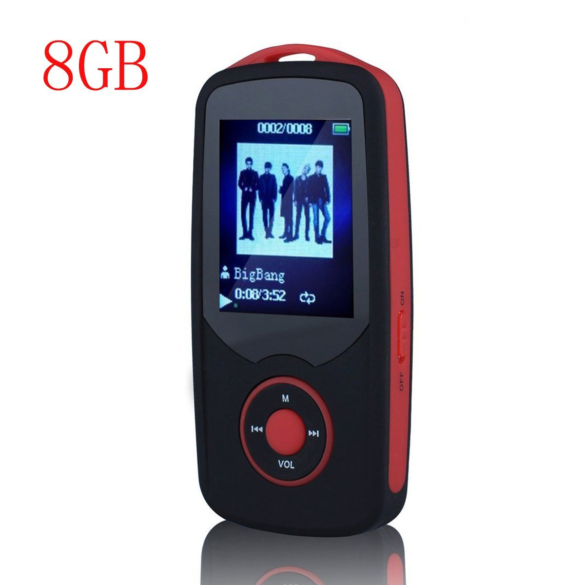 HONGYU R06 Portable Hi_Fi 8GB Bluetooth MP3 Music Player with FM Radio and Voice Recorder 50 Hours Lossless Playing & Supports u
