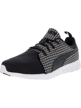 67854ce12601aa Product Image Puma Women s Carson Runner Knit Mesh Black   Star White  Ankle-High Running Shoe -