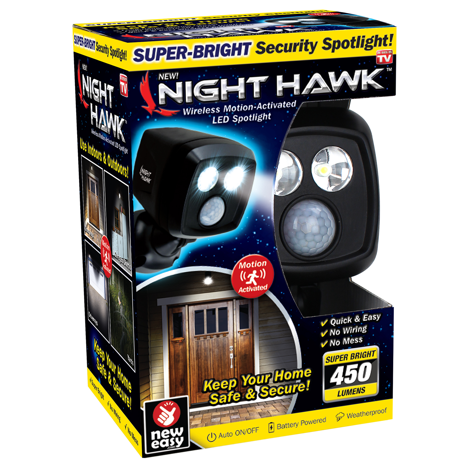 As Seen On Tv Night Hawk Wireless Home Safety Lighting