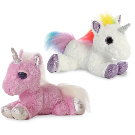 Rainbow and Pink Unicorn Combo Mid-Size stuffed animal- 12