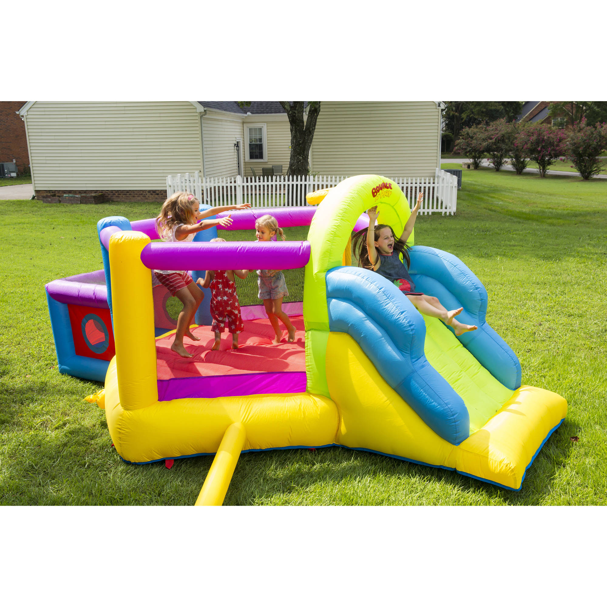 Bounce \'N\' Play Super Fort Sport Bouncer - Walmart.com