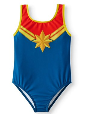 dcd135e57a Product Image Captain Marvel Cosplay One-Piece Swimsuit (Little Girls)