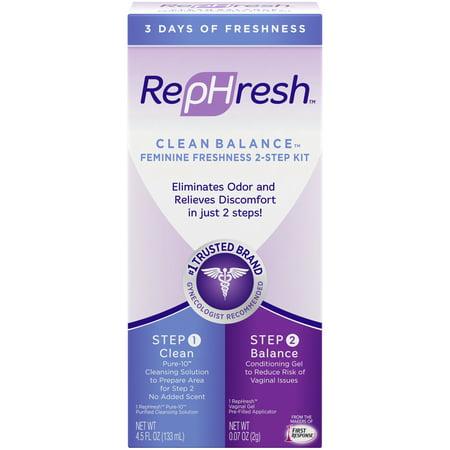 Gel Douche (RepHresh Clean Balance Feminine Freshness Kit (Part 1 Cleans: 4.5oz Bottle; Part 2 Balances: 0.07 oz Gel)
