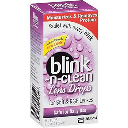 4 Pack AMO complet Blink-N-Clean Objectif Gouttes pour lentilles de contact Tout doux 0.5 FL OZ