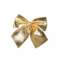 12pc Christmas Decoration Bowknot Christmas Tree Embellishment Gift Wrap Bowknot