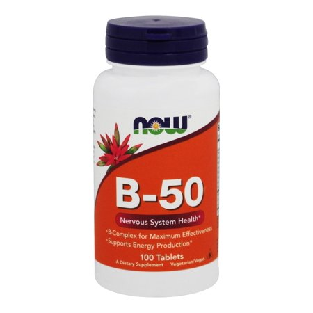 NOW Foods - Vitamin B50 Vegetarian - 100 Tablets (100 Vegetarian Tablets)