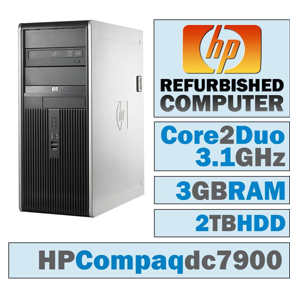 REFURBISHED HP Compaq dc7900 CMT/Core 2 Duo E8500 @ 3.17 GHz/3GB DDR2/2TB HDD/DVD-RW/WINDOWS 10 HOME 32 BIT