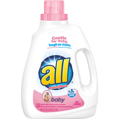 All with Stainlifters Baby Liquid Laundry Detergent, 63 loads, 94.5 fl oz