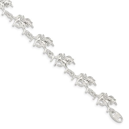 Unicorn Bracelet (925 Sterling Silver Unicorns Bracelet 7 Inch Animal For Women Gift)