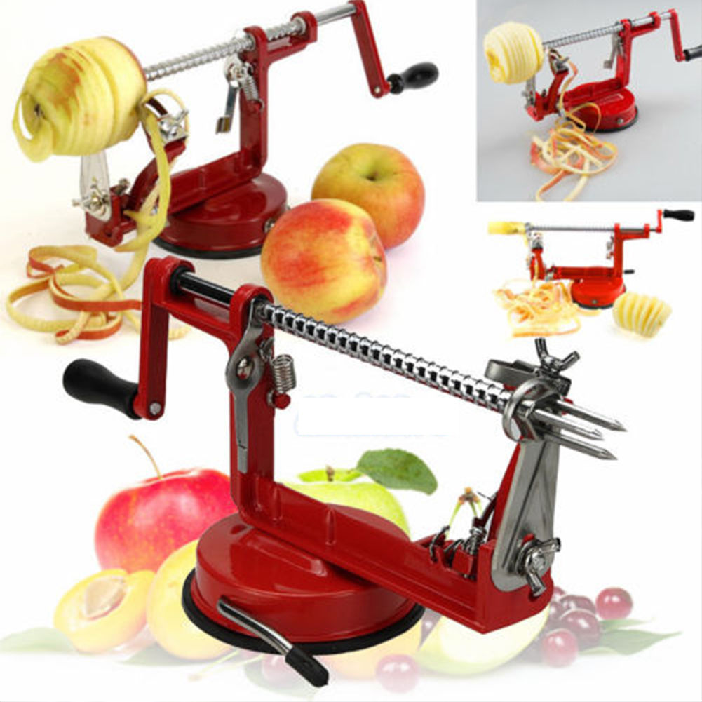 2017 Updated 3 in 1 Apple Peeler Corer Fruit Cutter Slicer Kitchen Tool Red by