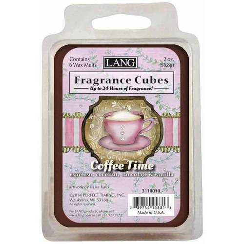 LANG Coffee Time 2-Ounce Fragrance Cubes Scented with Espresso, Coconut, Chocolate and Vanilla