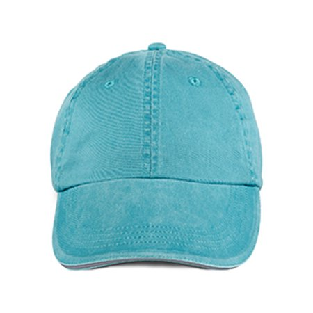 Anvil Adult Solid Low-Profile Sandwich Trim Twill Cap
