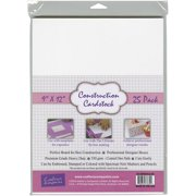 """Crafter's Companion Construction Cardstock, 9"""" x 12"""", 25pk, White"""