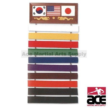 10 Level Martial Arts Karate, Taekwondo,Belt Display Rack - Martial Arts Weapons Rack