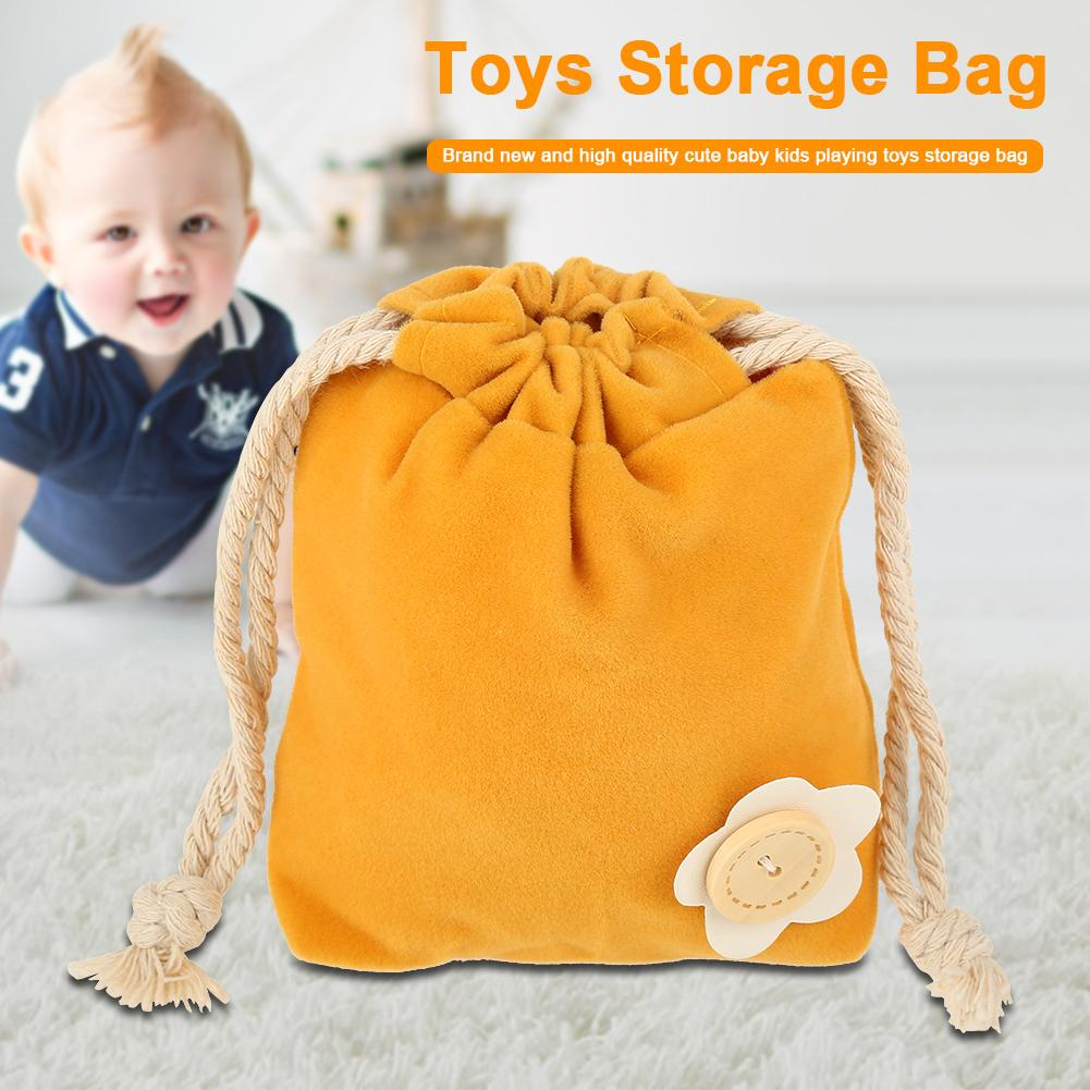 WALFRONT Cute and Portable Baby Kids Playing Toys Storage Pouch Bag Easy to Hold Organizer, Pouch, Baby Toy Bag