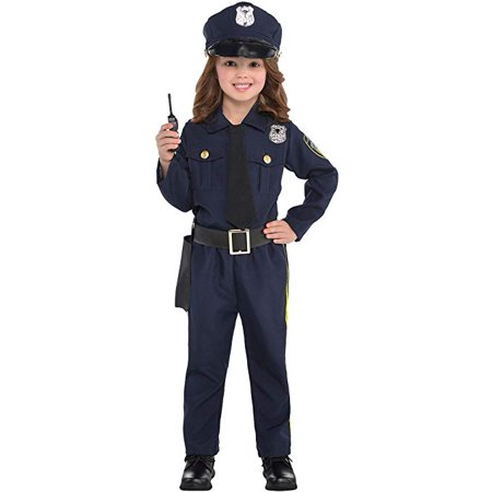 Girl Police Costume (Girls Classic Police Officer Costume - Toddler)