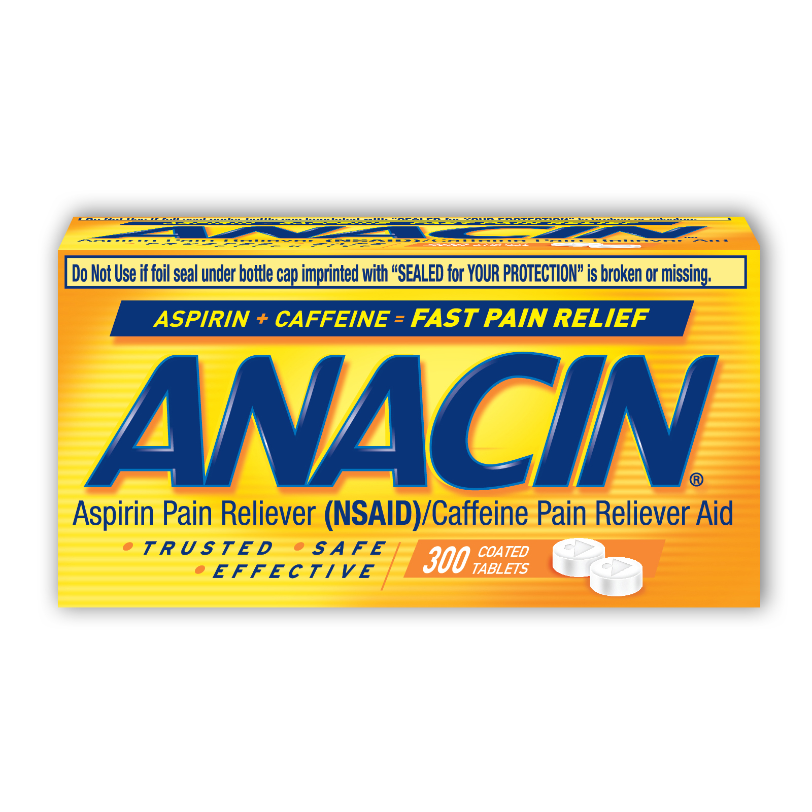 Anacin Fast Pain Relief Tablets - 300 CT
