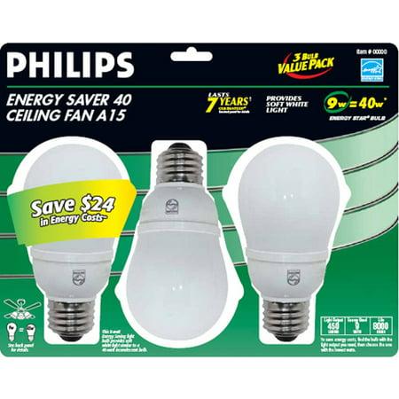 Philips Lighting Philips Energysaver40 Ceiling Fan 3pk