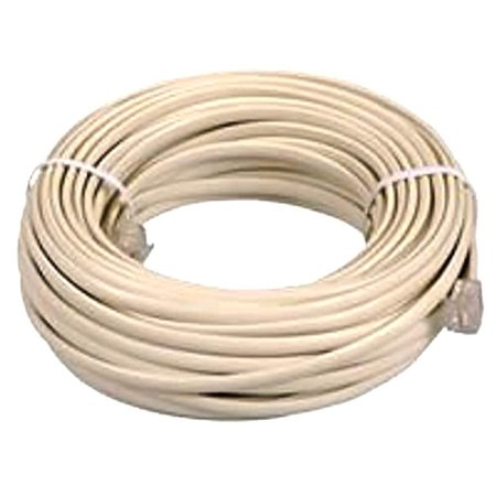 Phone Extension (BoostWaves SuperClear 100' FT Foot Ivory Beige Telephone Extension Cord Cable Line Wire RJ-11 )