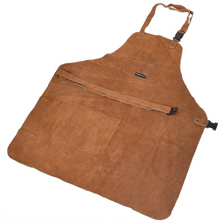 3 Pocket Suede Leather Wood Carvers Workers Chasers Gunsmith Tool Apron